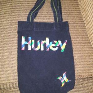 Hurley Black Canvas Neon Tote